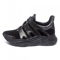 Кроссовки черные замшевые 901-03, фото 2