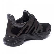 Кроссовки черные замшевые 901-03, фото 3