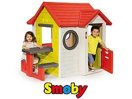Детский игровой домик На берегу моря со столом и звонком Smoby My House 810401