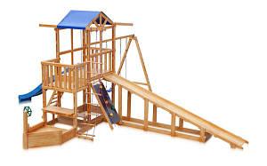Дитячий майданчик SportBaby Babyland-13 Капітан дерев'яна корабель з зимової гіркою гойдалками