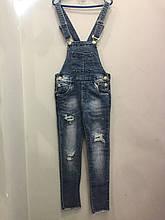 Модный подростковый джинсовый комбинезон для девочки