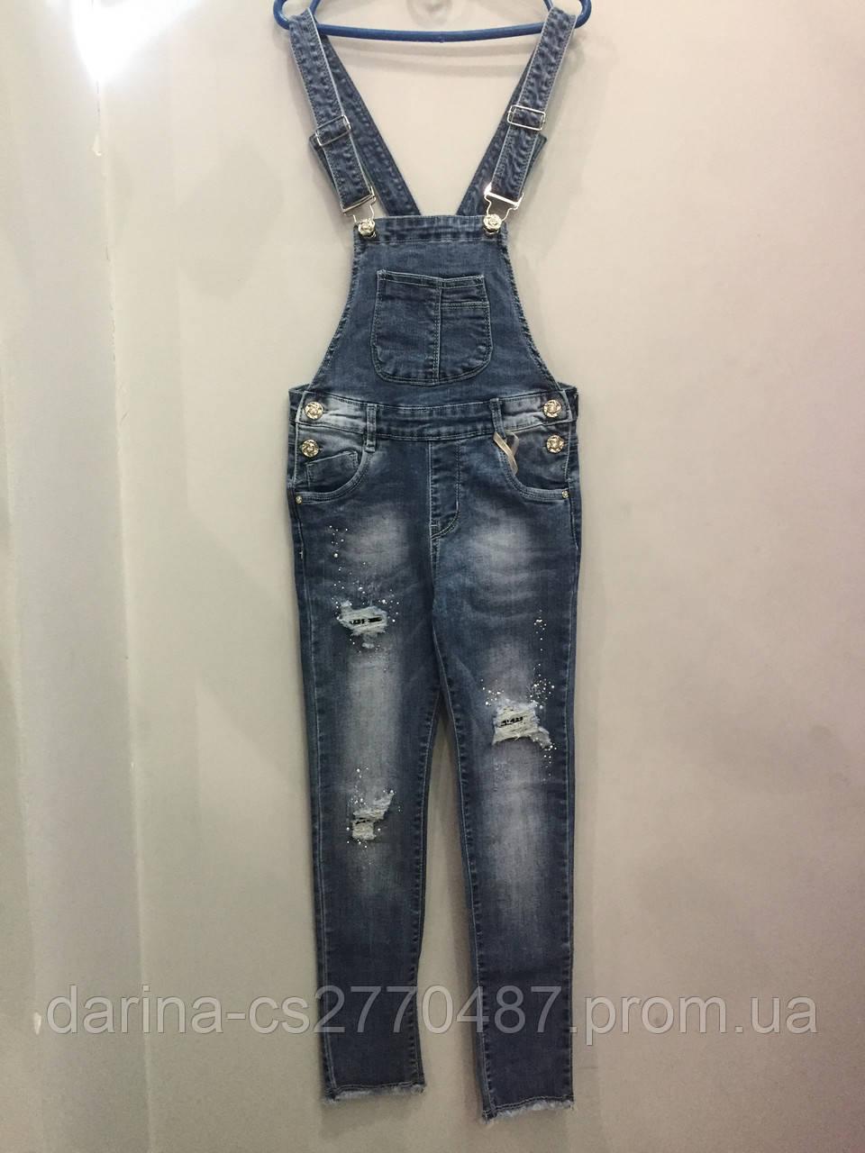 ca8c8a2ec3d Модный подростковый джинсовый комбинезон для девочки - Дарина - интернет  магазин детской и мужской одежды.