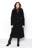 Пальто женское кашемировое чёрное / пальто жіноче чорне