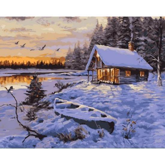 Картина по номерам Заснеженный домик 40 х 50 см (VP1002)