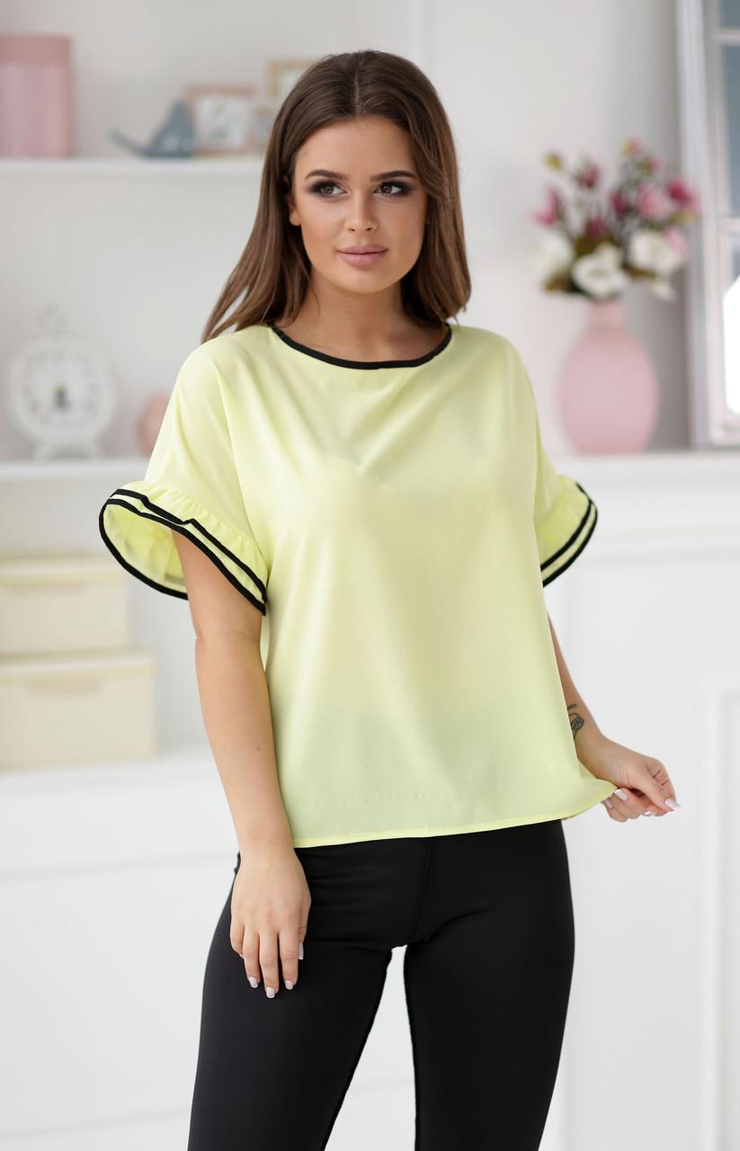 Блузка свободного покроя с пуговицами на спине