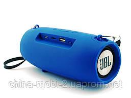 JBL XTREME mini J011 6W копия, блютуз колонка с FM MP3, синяя, фото 2