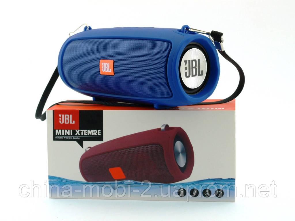 JBL XTREME mini J011 6W копия, блютуз колонка с FM MP3, синяя