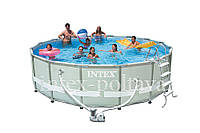 Круглый каркасный бассейн Intex(28328) 28326(488x122 см)+полная комплектация