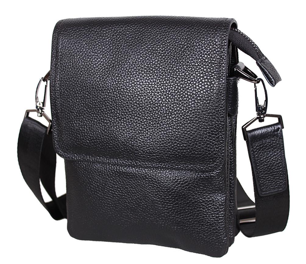 Мужская кожаная сумка DL008-2 черная