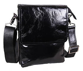 Мужская кожаная сумка DL008-4 черная