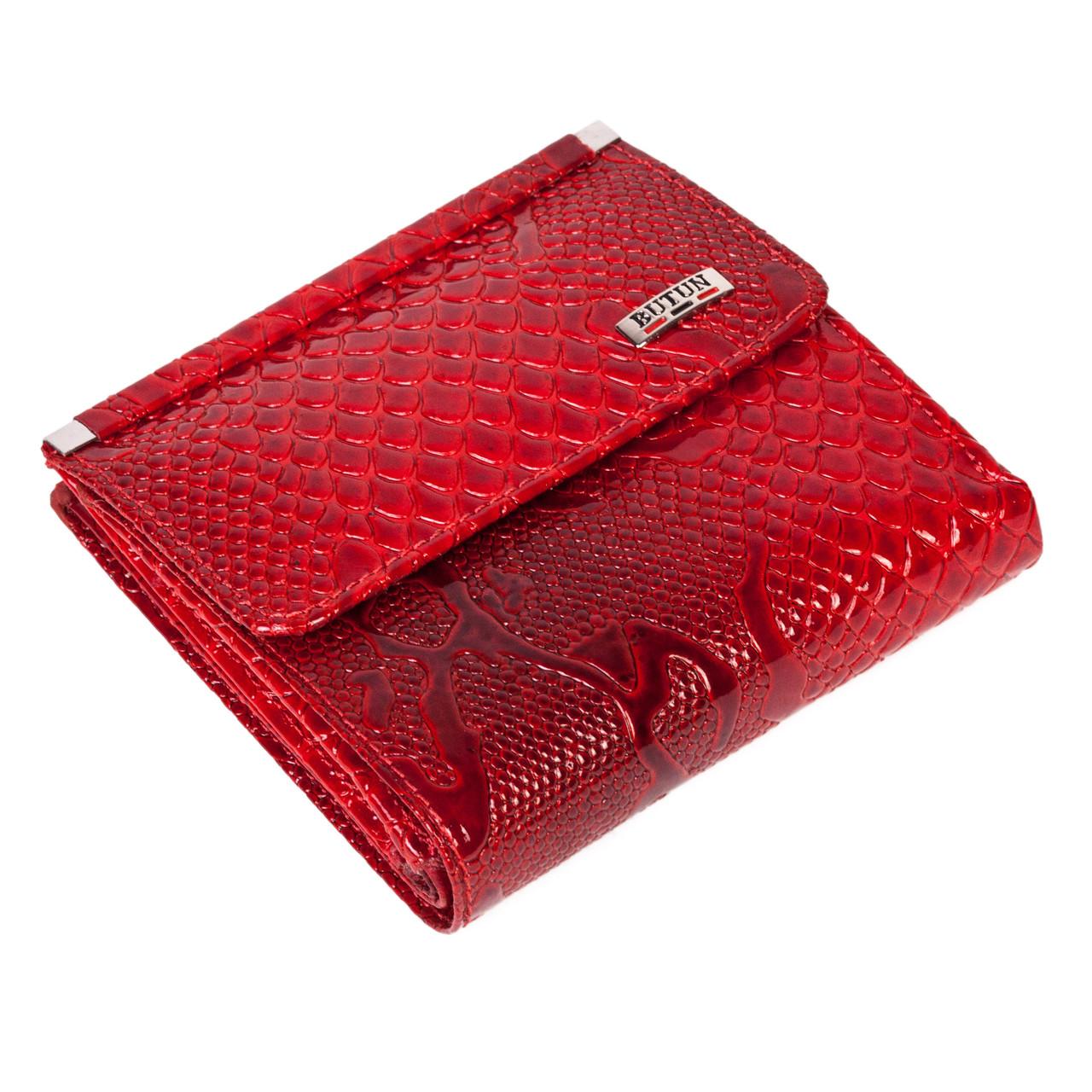Женский кошелек BUTUN 590-008-006 кожаный красный