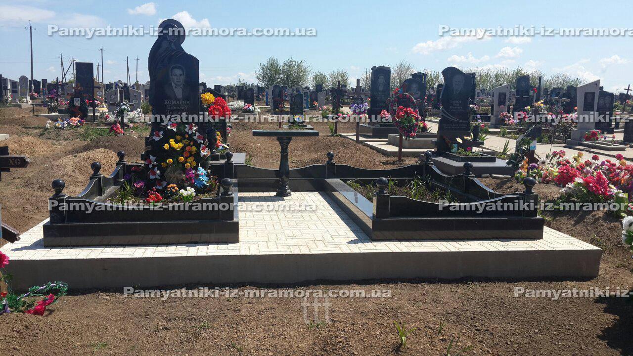 Двойное надгробие с Ангелом № 68