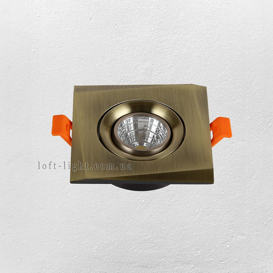 Точечный врезной светильник (модель  47-1241 AB )