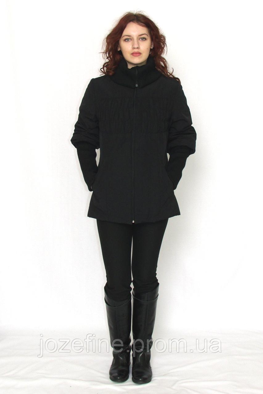dadcfb08ae6 Куртка женская чёрная Janna с плащёвки на замке