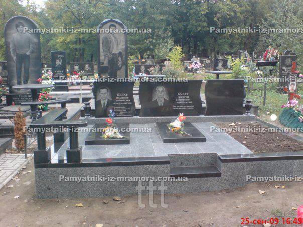 Тройное надгробие из гранита № 71
