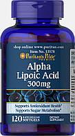 Альфа-липоевая кислота Puritan's Pride Alpha Lipoic Acid 300 mg 120 гелевых капсул