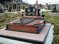 Двойное надгробие с православным крестом № 75