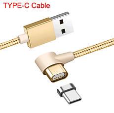 Mantis магнитный кабель Type-C угловой. Серебристый. Лучшее качество!, фото 3