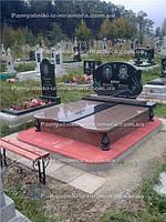 Двойное надгробие из гранита № 76