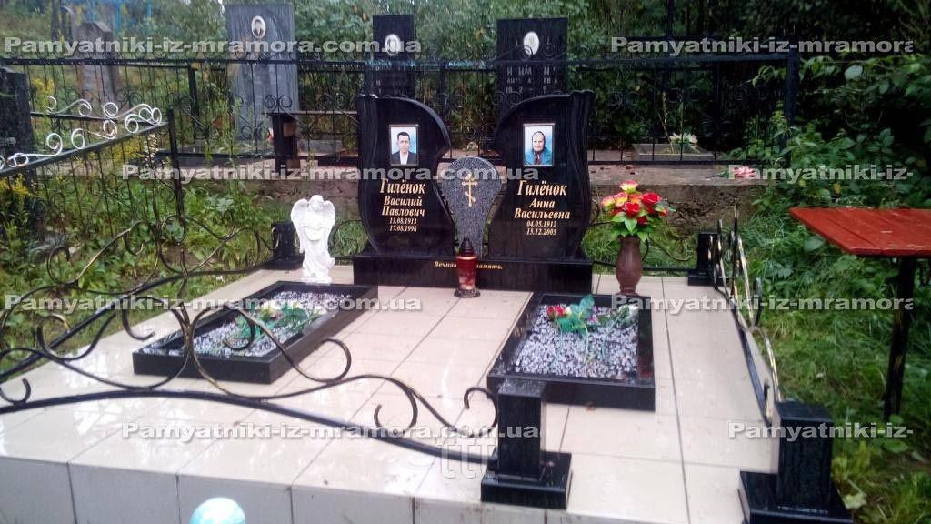 Двойное надгробие с фотокерамикой № 78