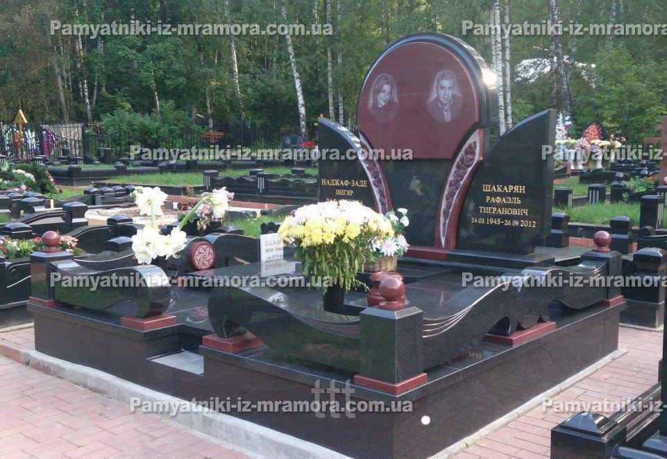Двойное надгробие из гранита № 80