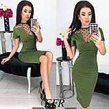 Платье / итальянский трикотаж, сетка / Украина 50-366, фото 2