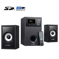 Колонки F&D A555U; 2.1; 28W+2х14W; USB/CARD (SD/MMC/MS) ридер; ДУ