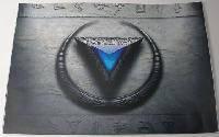 Наклейка на ноутбук Maxxtro 0043, треугольник, универсальная