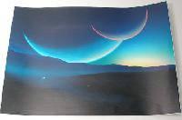 Наклейка на ноутбук Maxxtro 0206, горизонт, универсальная
