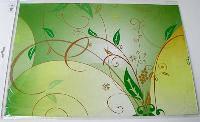 Наклейка на ноутбук Maxxtro 0245, листья, универсальная