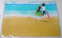 Наклейка на ноутбук Maxxtro 0263, на берегу моря, универсальная