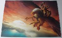 Наклейка на ноутбук Maxxtro 0473, полет орла, универсальная