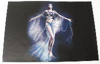 Наклейка на ноутбук Maxxtro 0526, fantasy girl, универсальная