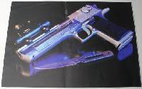 Наклейка на ноутбук Maxxtro 0549, пистолет, универсальная
