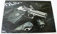 Наклейка на ноутбук Maxxtro 0594, пистолет, универсальная