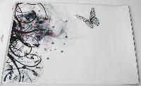Наклейка на ноутбук Maxxtro 0638, черно-белая бабочка, универсальная