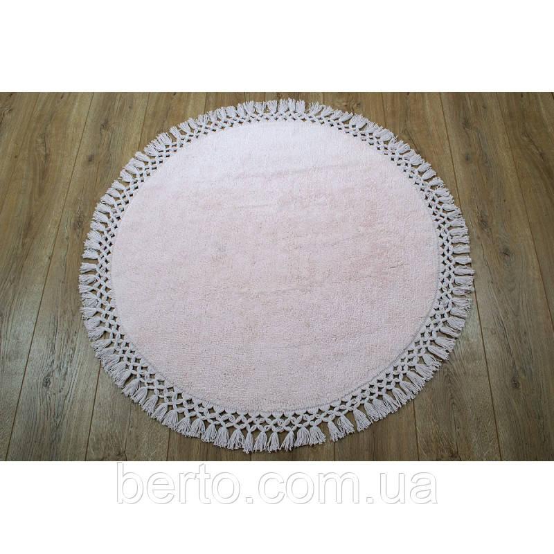 Круглый коврик в ванную комнату Irya - Lora розовый 90*90