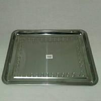 Поднос прямоугольный из нержавеющей стали ( Средний )