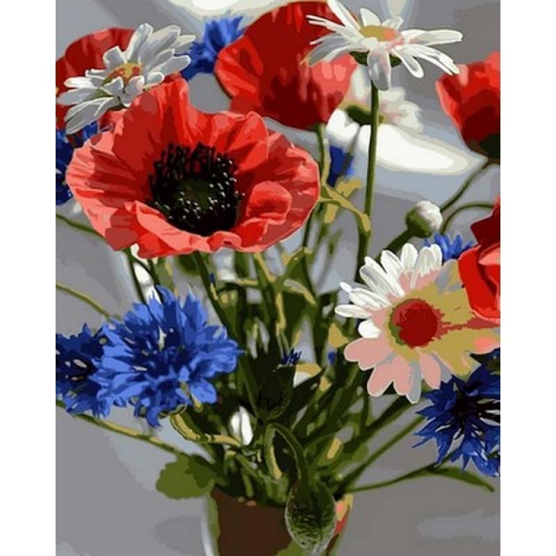 Картина по номерам Букетик полевых цветов 40 х 50 см (VP1037)