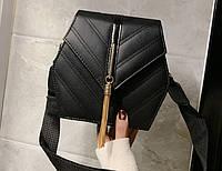 Женская сумка через плечо на широком ремне Adel