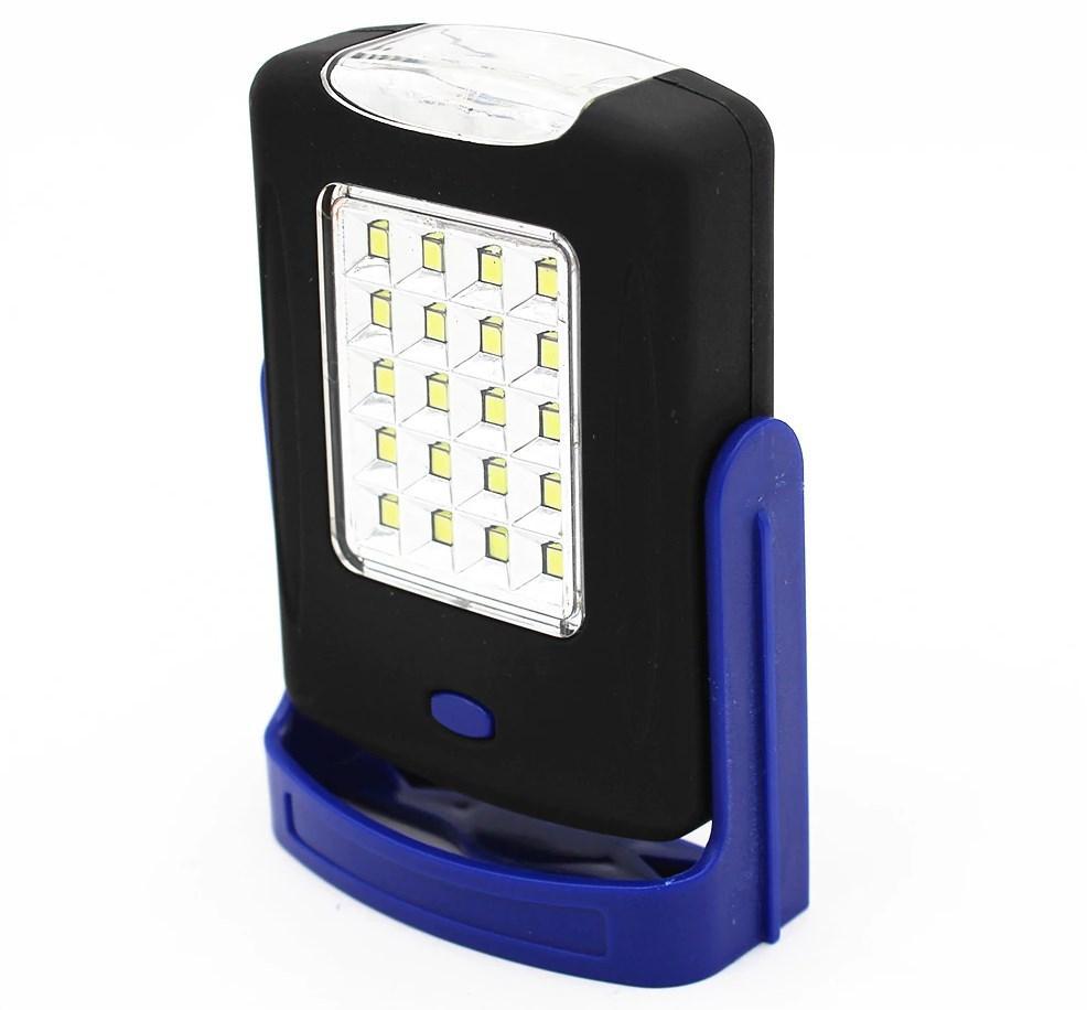 Кемпинговый фонарь Luxury 2003-20SMD+3Led с магнитом и крючком синий