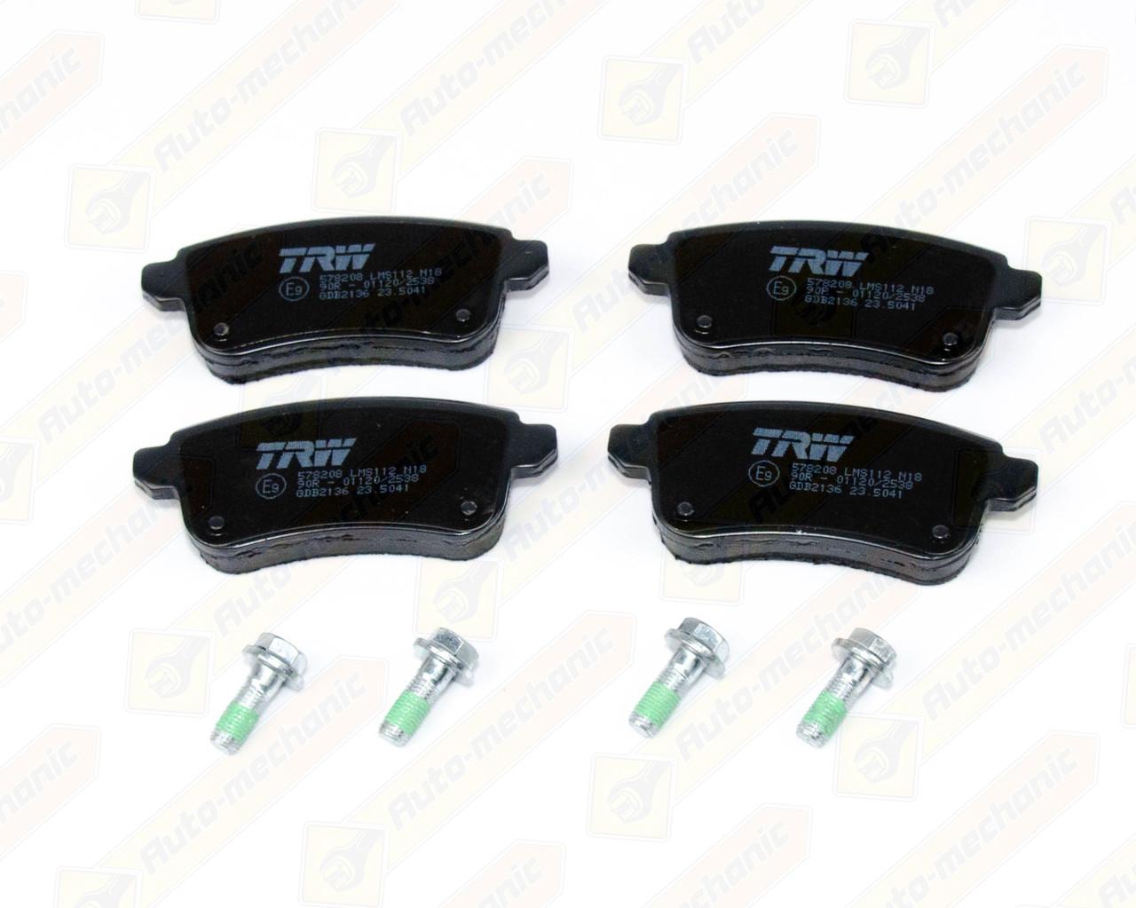 Купить Тормозные колодки, Дисковые тормозные колодки (задние) на Renault Scenic III 2009->2016 — TRW - GDB2136