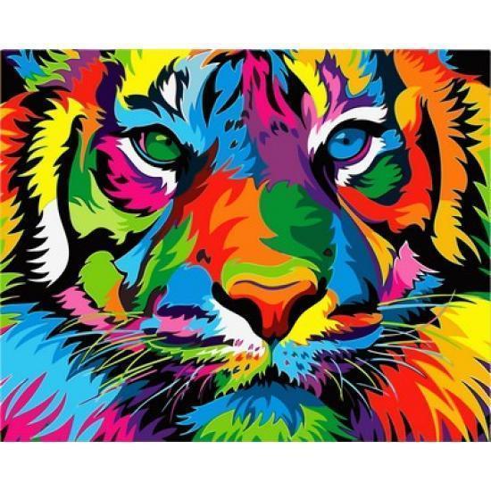 Картина по номерам Радужный тигр 40 х 50 см (VP987)