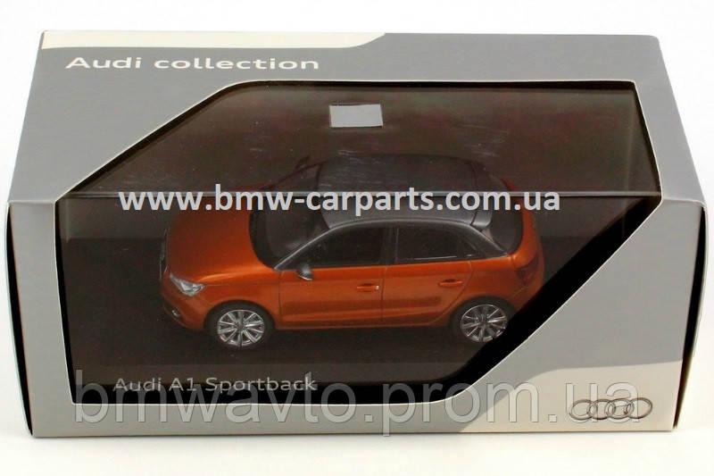 Модель Audi A1 Sportback, Samoa orange, Scale 1 43