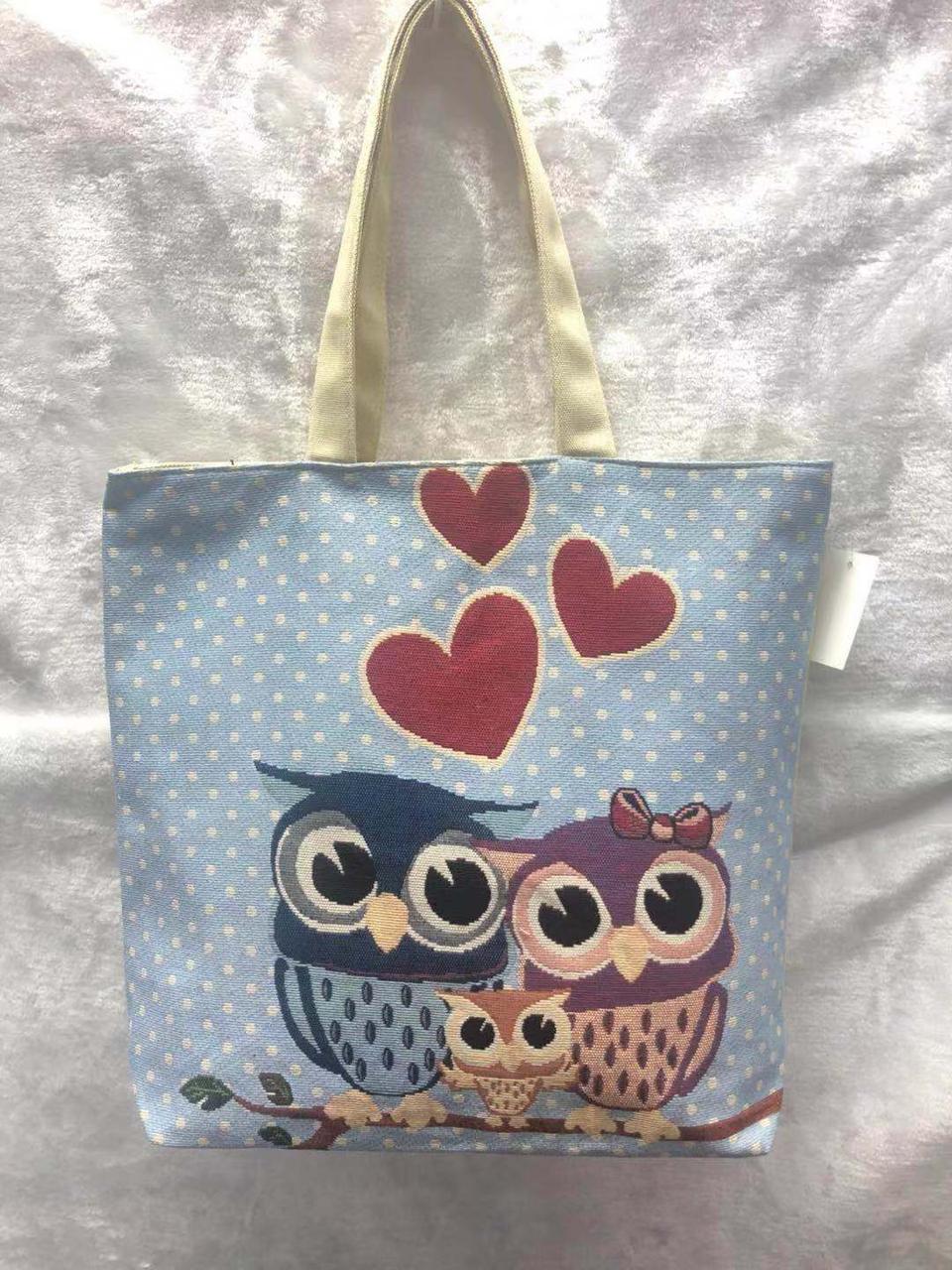 904048584d82 Пляжная сумка Влюбленные совы, цена 190 грн., купить Одеса — Prom.ua  (ID#895170590)