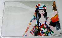 Наклейка на ноутбук Maxxtro 3026, модная девушка, универсальная