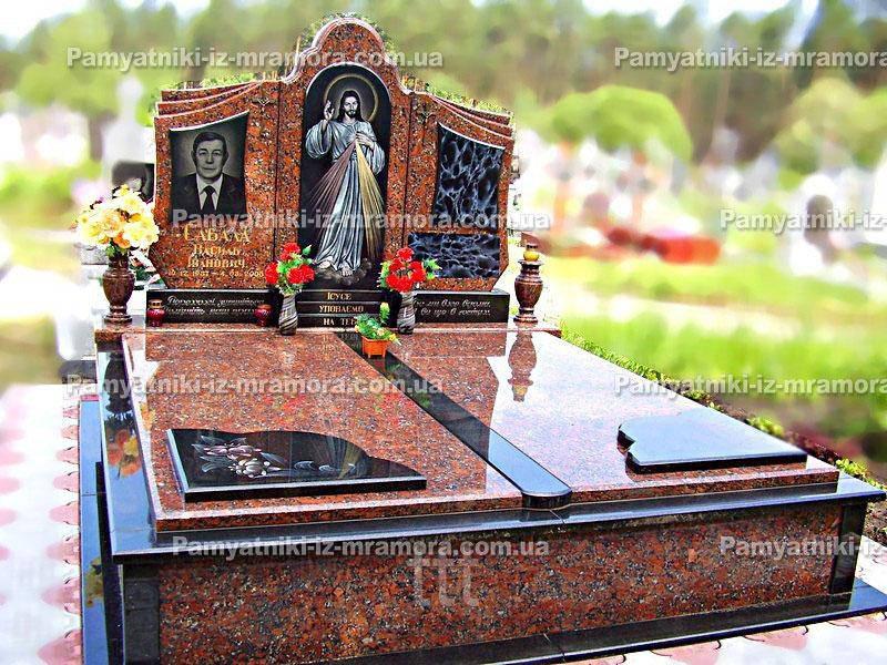 Гранитное двойное надгробие № 83