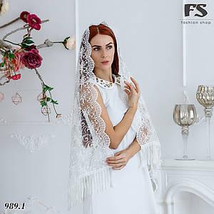 Свадебный шарф Камила (белый)