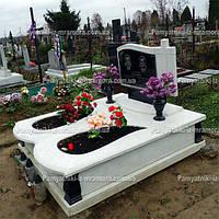 Надгробие двойное из мрамора № 85