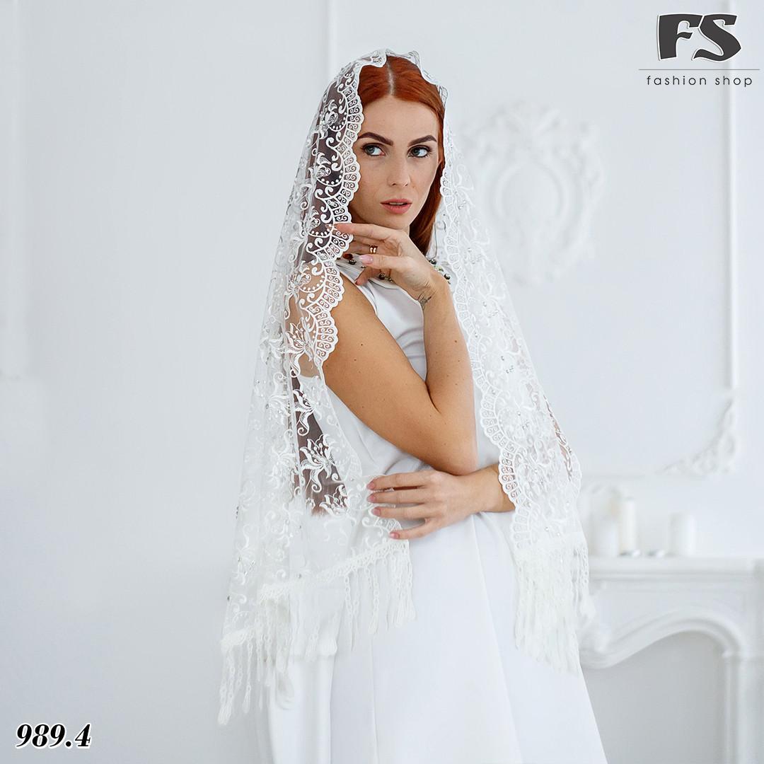 Свадебный шарф Камила (стразы)